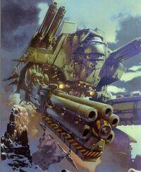 Mechanicus titan warlord cañon hellstorm Imperius Dictato.jpg