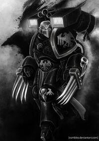 Veterano de Vanguardia Guardia del Cuervo Cuchillas Relámpago Lanzagranadas