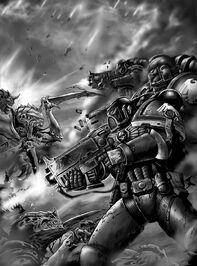 Escuadra Táctica Guardia del Cuervo vs Gantes Tiránidos