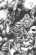 Orkos Kráneo de Muerte trofeos hueso