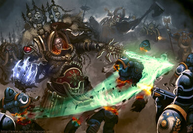 Abaddon combatiendo