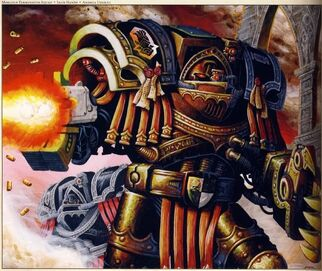 Manos hierro escuadra exterminadores Marlock armadura modelo tartaros