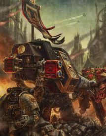 Guardianes de la Muerte Dreadnought Cañon de Fusion Puños Imperiales Ordo Xenos Wikihammer