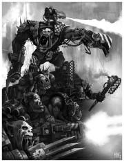 Orkos klan mordizko vibora combate BN.jpg
