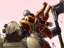 Khorne s berserkers W40k by Doombine