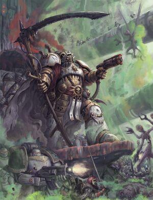 Mortarion luchando contra los Jorgall wikihammer.jpeg