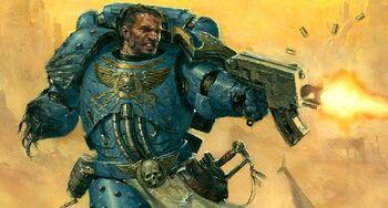 Pasanius Ultramarines Zona Combate Warhammer 40k wikihammer.jpg