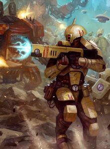 Tau guerrero fuego versus orkos wikihammer.jpg