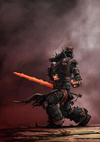 Paladín del Caos espada Infernal