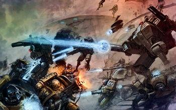 Guadañas del Emperador vs Armaduras de Combate Tau Cruzada de Damocles.jpg
