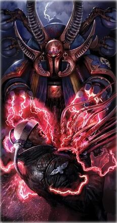 Ahriman Mil Hijos Caos Chaos Hechicero Warhammer 40k Wikihammer.jpg