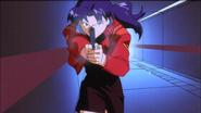 Misato attacking JSSDF soldiers (EoE)