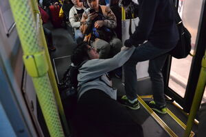 LRT505 fall down in the bus