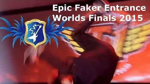 LoL - Faker Epic Entrance - Worlds Finals 2015