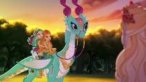 Dragon Games - Ashlynn and Madeline riding Crumpets
