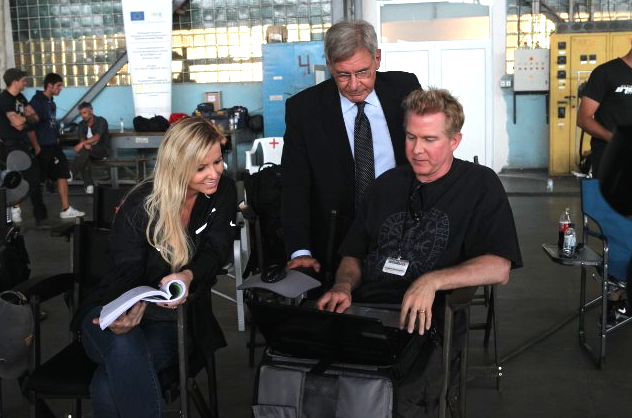 File:Expendables writers with Harrison Ford on EXPENDABLES 3.jpg