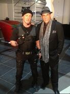 EX3- Robert Davi on-set with Sly