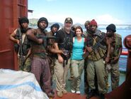 Expendables stunt guys Andy Gill & Kelly Meghan Gill along with the pirate stunt team