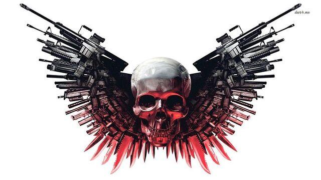 File:Skulls guns weapons expendables HD Wallpaper of General.jpg