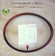 Gravekeeper's Note