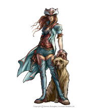 Fable 2 a hero and her dog by omend4-d326l93-1-