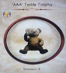 """""""AAA"""" Teddy Trophy"""