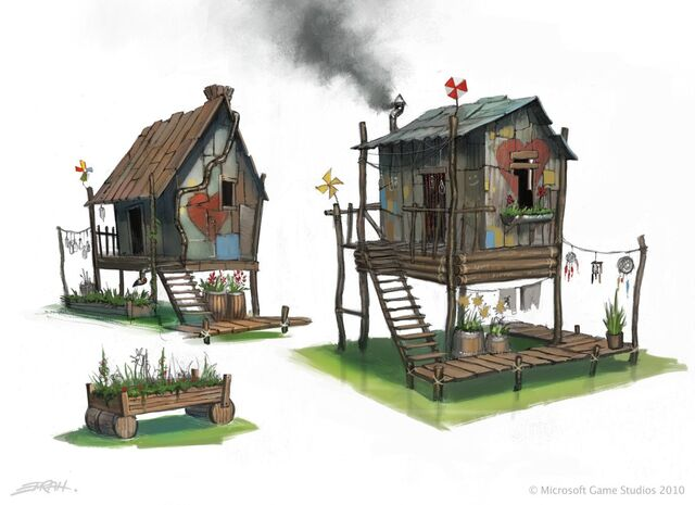 File:Fable 3 Ecocamp huts.jpg