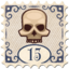 Stamp Rich or Die Skull