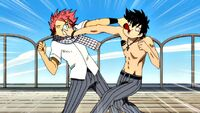 Natsu and Gray fight at school
