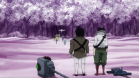 Hiroshi and Rala watch Fairy Tail leave