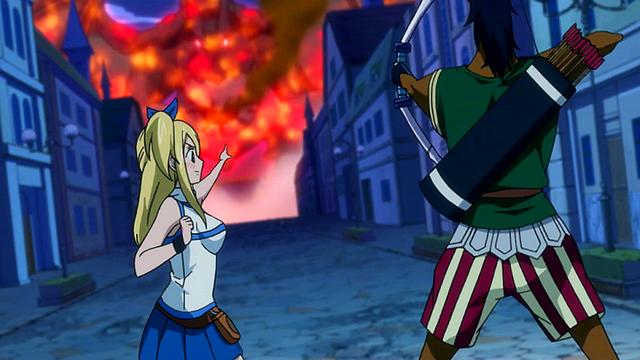 File:Lucy summons Sagittarius to help Natsu.png