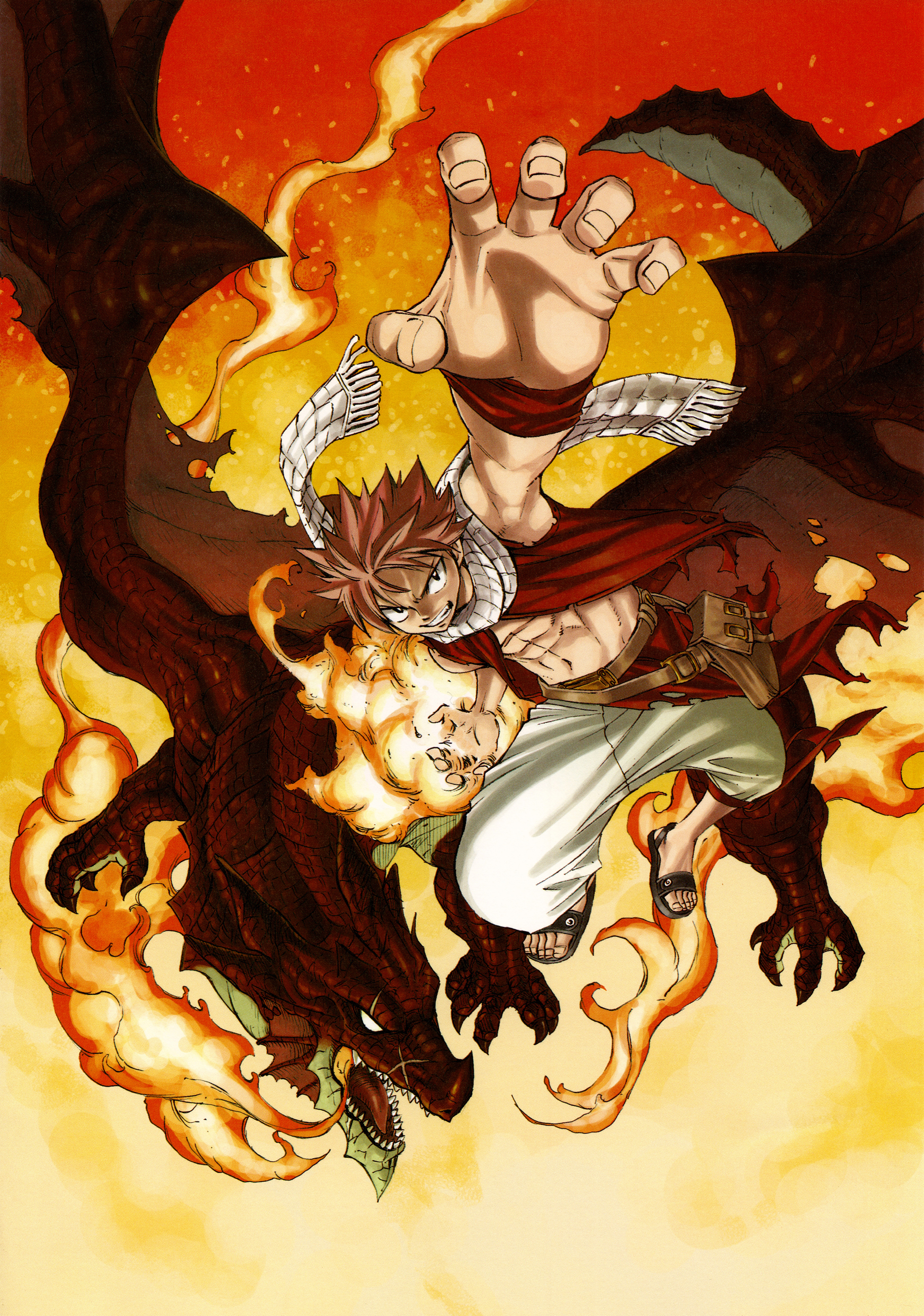 Image natsu and igneel fantasia 02 fairy tail wiki fandom powered by wikia - Fairy tail fantasia ...