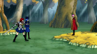 Erza and Juvia ready to fight Meredy