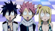 Natsu, Lucy and Gray see a park
