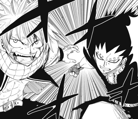 File:Natsu and Gajeel ready to fight Laxus.png