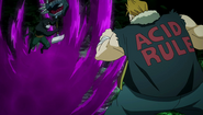 Pantherlily cuts through Acid Magic