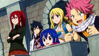 Team A watches Mira's battle