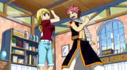 Natsu and Lucy decide to form a team