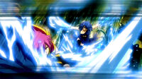 Juvia attacks Meredy with Water Force