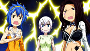 Lisanna, Levy and Cana stunned