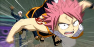 Natsu interrupts Elfman and Gajeel's battle