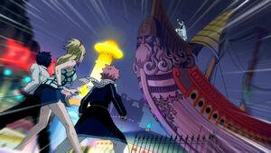 Natsu, Lucy and Gray vs. Hughes