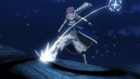 Future Rogue injures Natsu