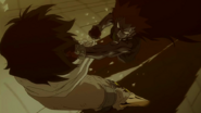 Gajeel moving in Shadow Form