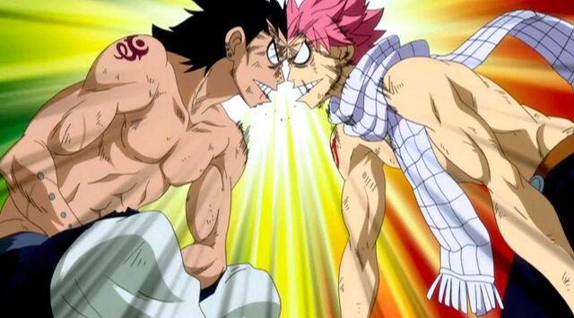 File:Natsu and Gajeel argue.JPG
