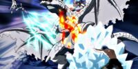 Natsu Dragneel, Erza Scarlet & Gray Fullbuster vs. Blizzardvern