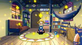 Natsu's house cleaned by Lucy