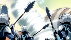 Natsu and Wendy vs. Edo Guards