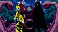 Erza and Gildarts vs. Byro