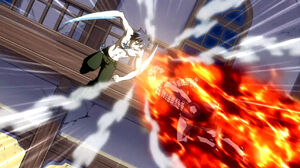 Gray and Natsu clash